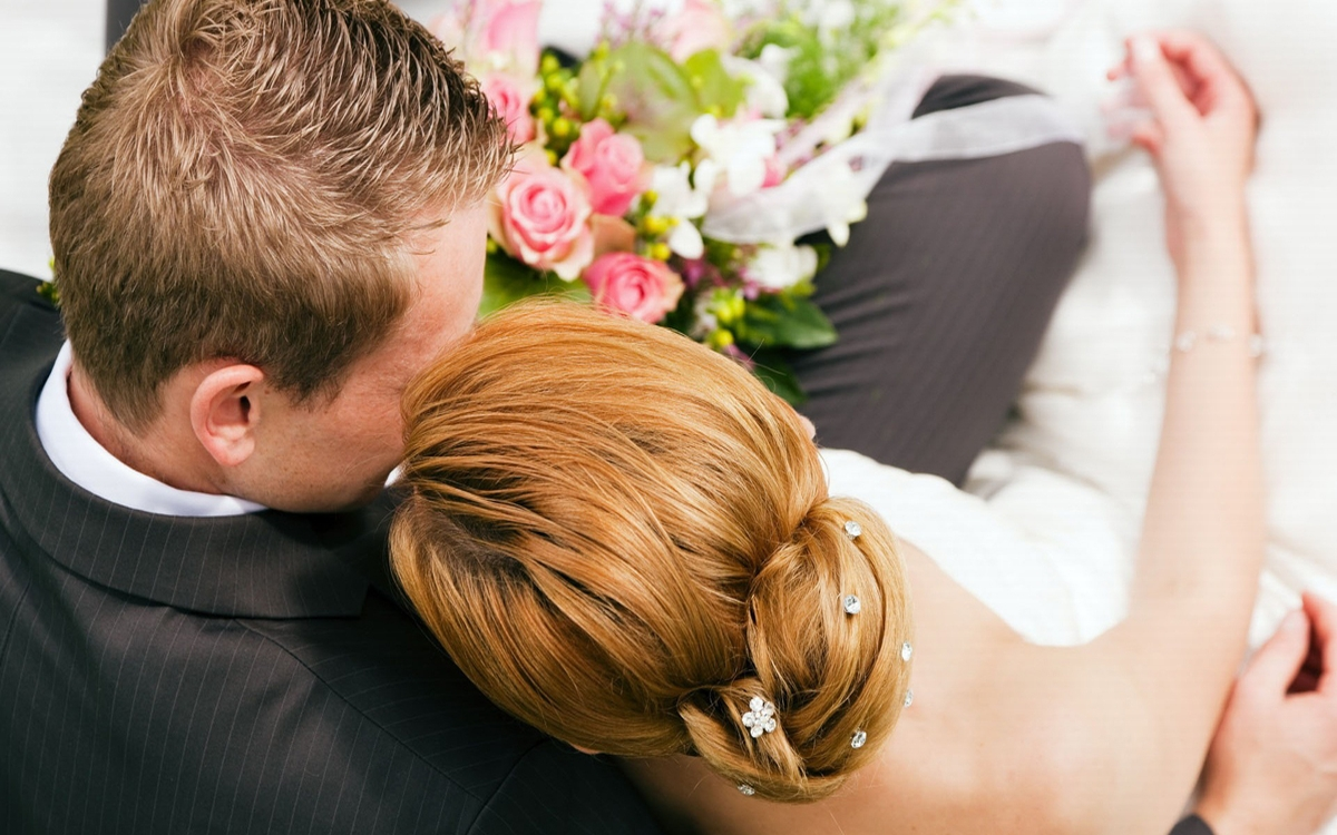 Фото парня и девушки со спины свадьба